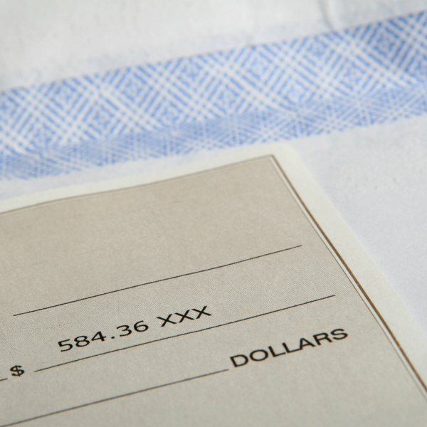 Image of a paper invoice