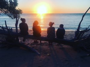 Caxton staff watching a sunrise at Cultural awareness training